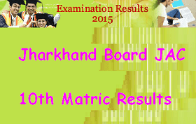 Jharkhand Board JAC 10th Results 2015