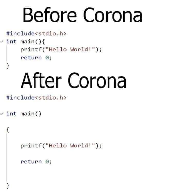 programming before and after corona