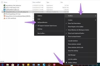 Net Speed Internet - Cara menampilkan informasi Speed Internet di taskbar Windows 10