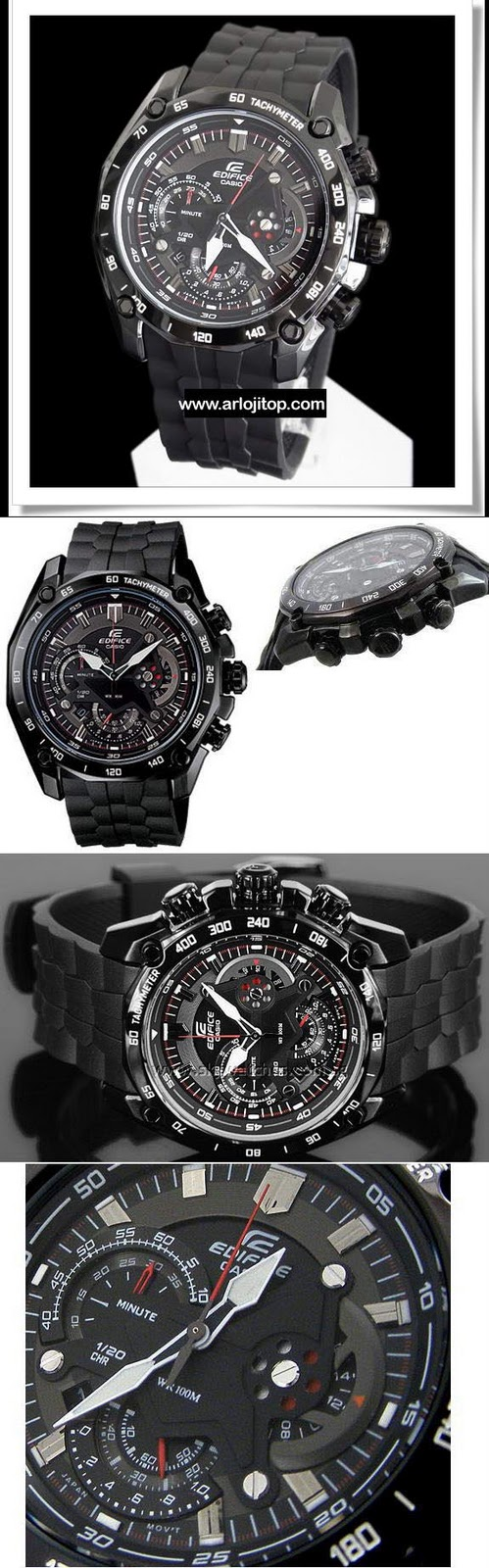 Kios Arloji Casio Edifice For Man Jam Tangan Pria Expedition 6631 Black Orange Triple Time Original Ef 550pb 1a Rubber Rope Rp 1899000