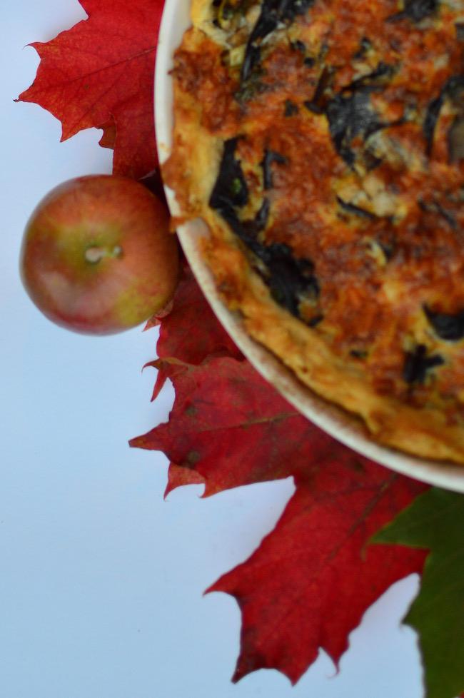 omenainen mustatorvisienipiirakka