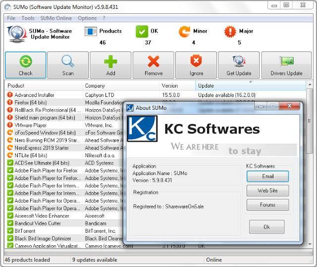 Screenshot KC Softwares SUMo PRO 5.9.8.431 Full Version