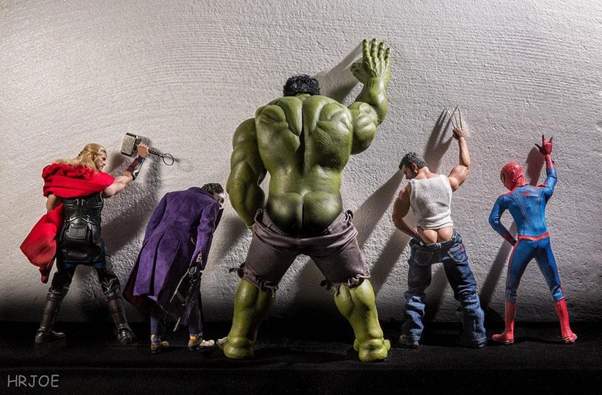 04-Hrjoe-Marvel-Superheroes-During-their-Downtime-www-designstack-co