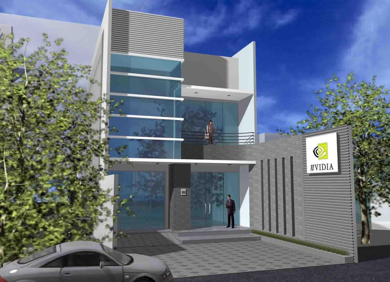 Desain Gedung Perkantoran Minimalis Modern Metro Properti Bangunan kantor modern