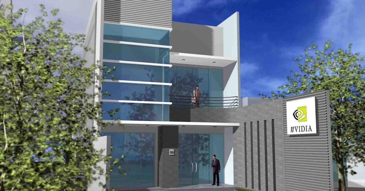 Desain Gedung Perkantoran Minimalis Modern Metro