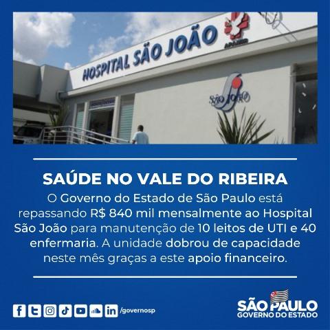 Governo de SP esclarece verbas do Covid-19 para o Hospital São João