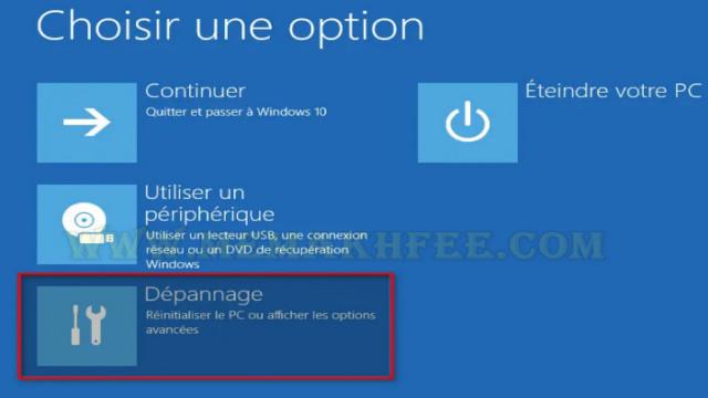اختر خيارات التمهيد المتقدمة لشاشة من خيار واحد.