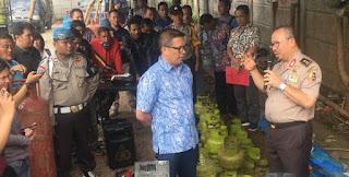 Grebek Gudang di Tanggerang, Polisi Sita Ribuan Tabung Hasil Oplosan
