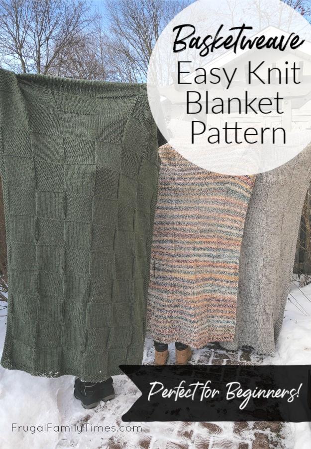 easy knit blanket pattern for beginners