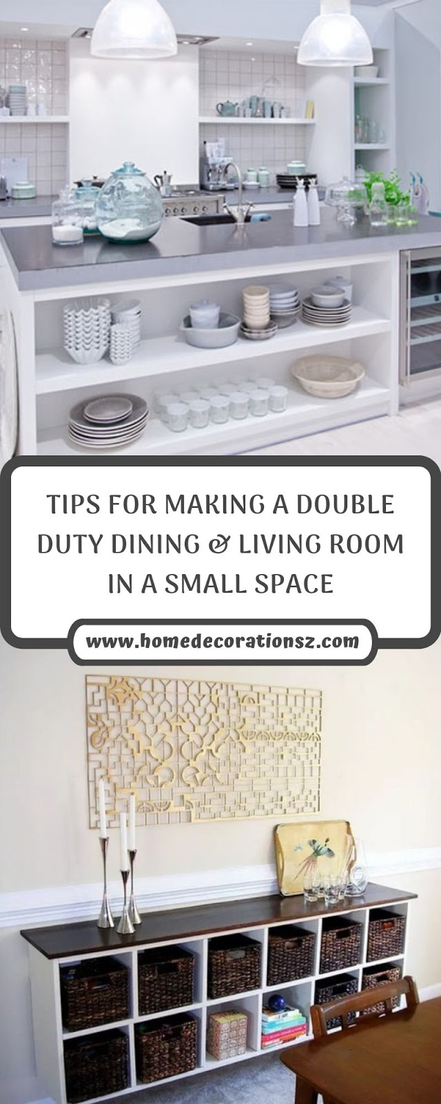 TIPS FOR MAKING A DOUBLE DUTY DINING & LIVING ROOM IN A SMALL SPACE