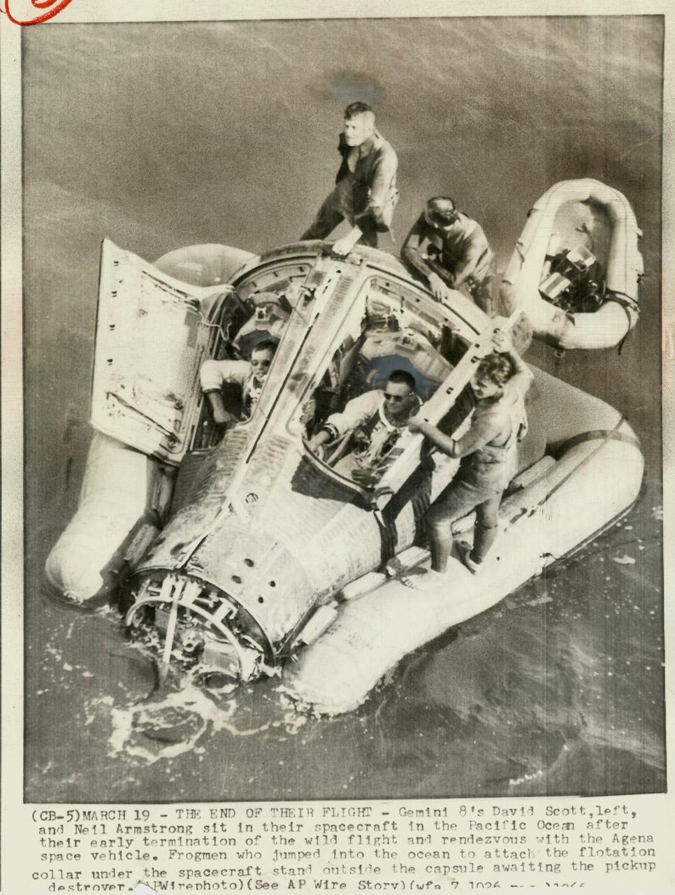 Signed Covers: USA 1966 Gemini 8