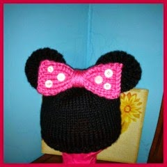 GORRO MINNIE MOUSE EN PUNTO