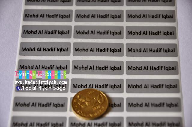 tempah sticker murah label nama kahwin produk product perniagaan bisnes majlis bulat biasa gold silver transparent lutsinar