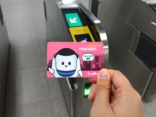 Kartu e-Money Mandiri edisi MRT Jakarta