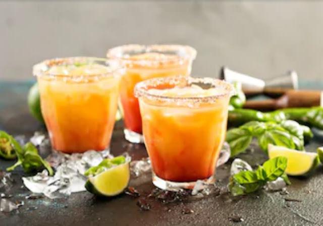 Tequila Sunrise Margarita #drinks #cocktails
