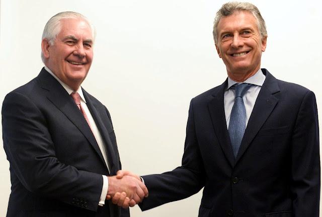 El Presidente Macri recibió al secretario de Estado de Estados Unidos