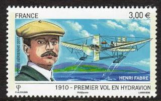 France Pilot Henri Fabre w Le Canard Seaplane