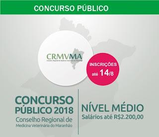 Edital concurso público CRMV-MA 2018