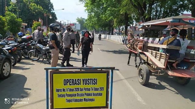 Tekan Penyebaran Covid-19, Polsek Kadipaten Gelar Operasi Yustisi Prokes Sasar Pengguna Jalan