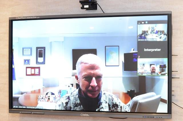 Ministro de Defensa de RD se reúne con el jefe Comando Sur de los EUA