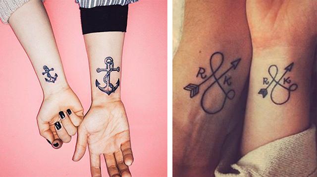 Inspiração de tatuagens criativas para casais