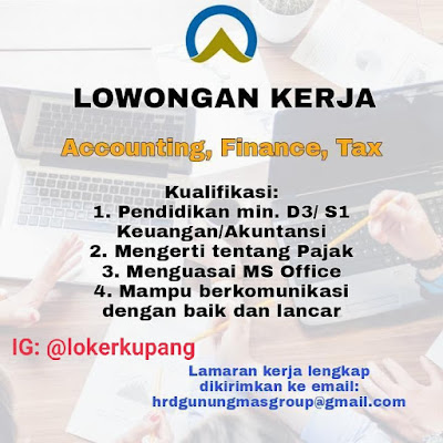 Lowongan Kerja Gunungmas Group Sebagai Accounting, Finance, Tax
