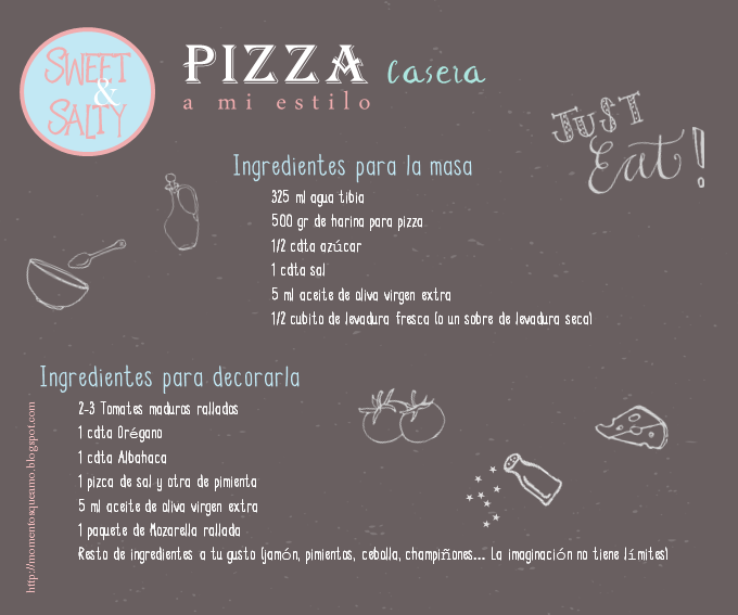 Pizza casera - Ingredientes