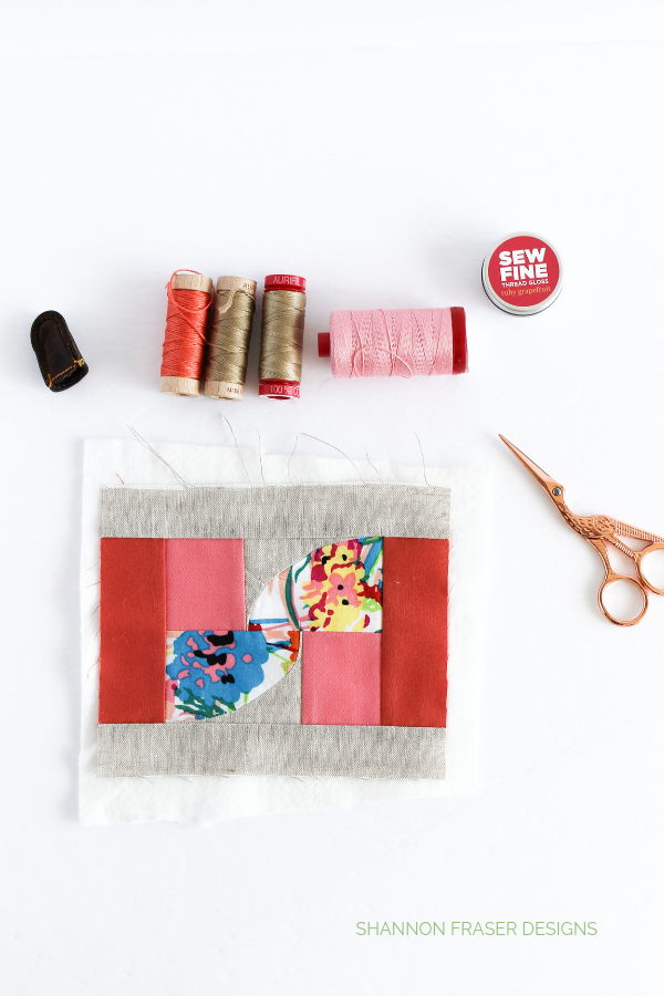 Summer Solstice Mini Art Quilt in the works | Shannon Fraser Designs #fiberart #miniquilt