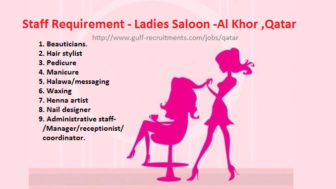 Staff Requirement Ladies Saloon Al Khor Qatar Gulf