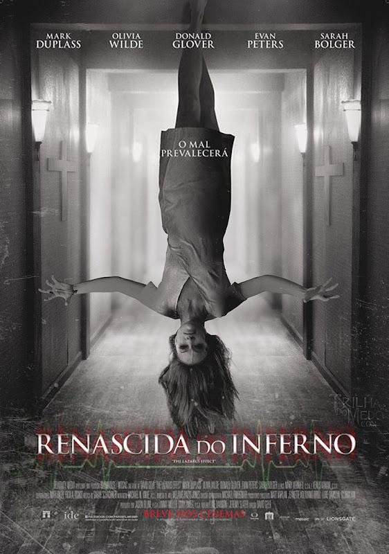 Olivia Wilde aparece de cabeça para baixo no cartaz nacional do filme Renascida do Inferno