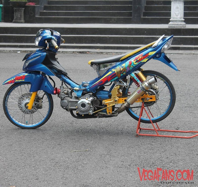 Modifikasi Jupiter Z Biru Modif Look Style Simple