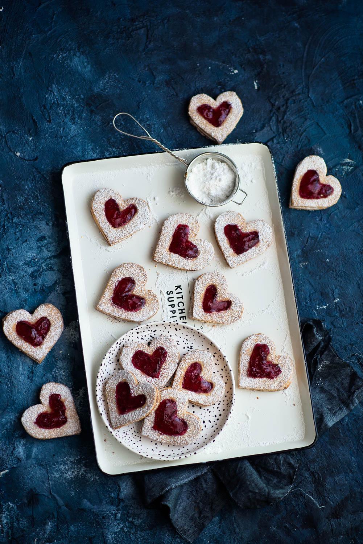 Ciasteczka w kształcie serc na Walentynki (i nie tylko)