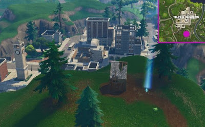Timed Trial Locations, Fortnite, Tilted Towers