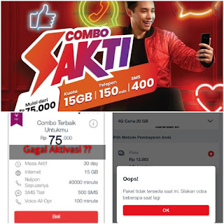 Gagal Daftar Paket Combo Telkomsel 15GB