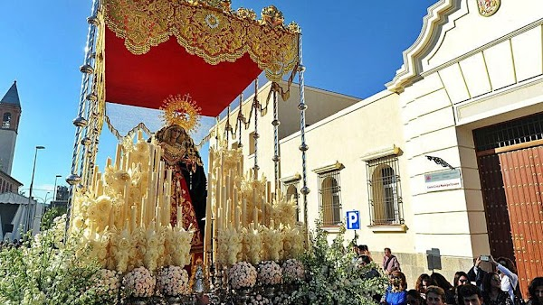 Horario e Itinerario Traslado en Rosario Vespertino de la Virgen de la O por su 25 Aniversario. Córdoba 29de Octubre del 2021