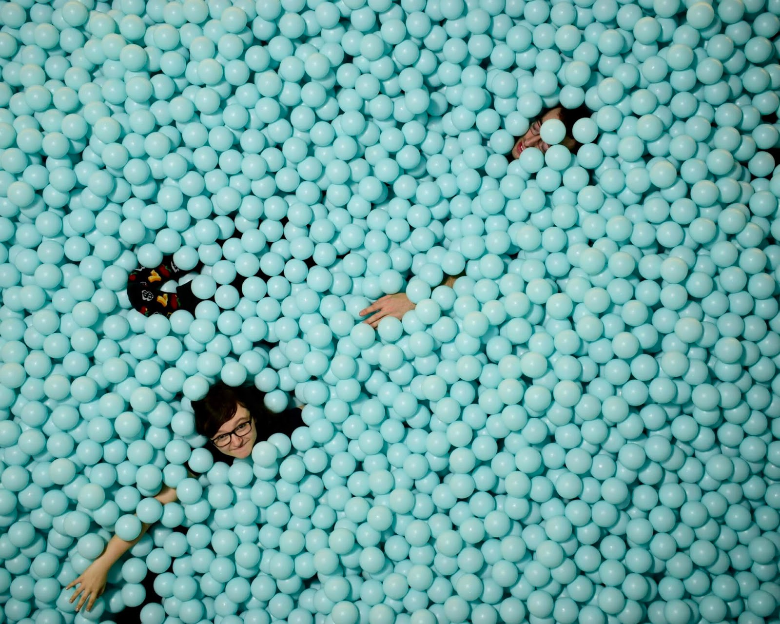 Amber Kirk-Ford in a ball pit