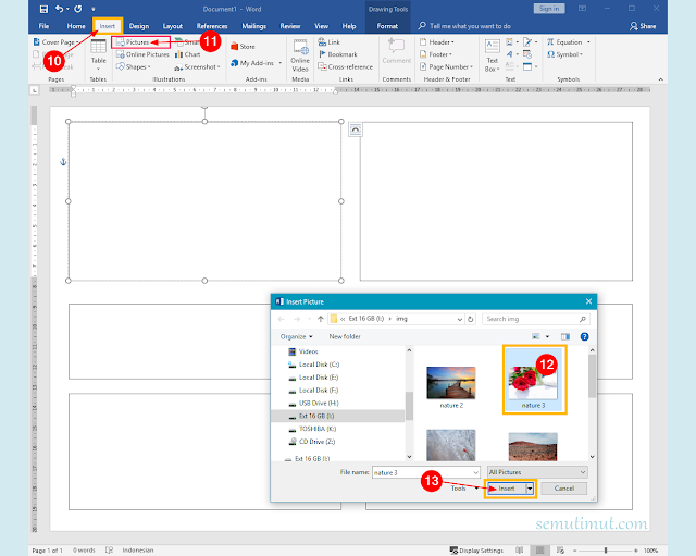 cara membuat buletin di ms word