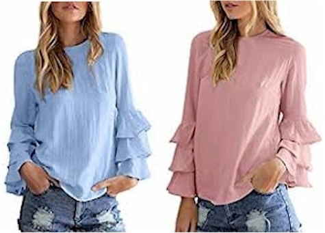 9ad028f2f0026 Bell Sleeve Top for  15- 17 on Amazon (both regular and plus sizes  4  colors)