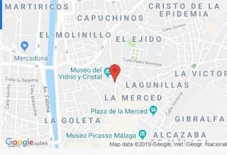 Mapa de Ubicación de Google en Málaga