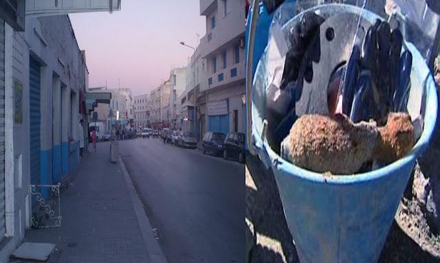 باب الجزيرة قذيفة من الحرب العالمية وسط القمامة