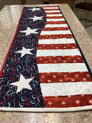 Mary's Patriotic Wave table runner