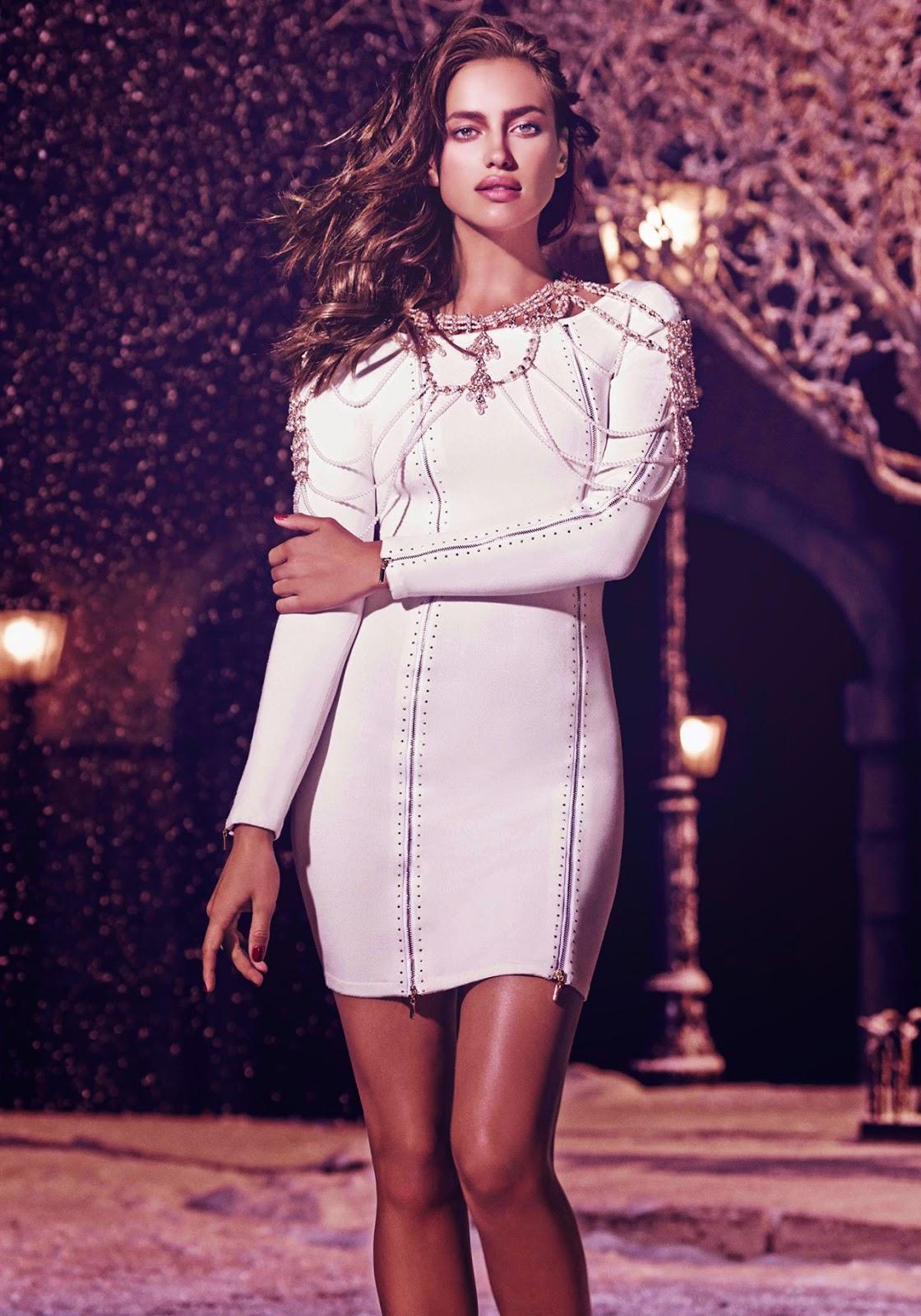 Irina Shayk for SuiteBlanco Holiday 2014 Campaign