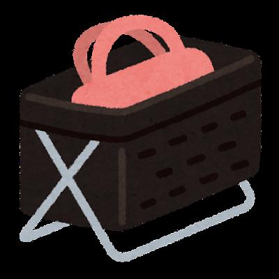荷物を入れるカゴのイラスト(カゴのみ)