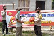 Jelang HUT Bhayangkara Yang Ke 75 Di Masa Pandemi Covid 19, Polsek Sebangki Membagikan Bansos Kepada Warga Yang Kurang Mampu