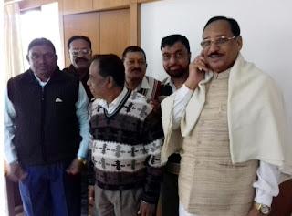 नव वर्ष में विधायक कांतिलाल भूरिया का स्वागत कर उनके समक्ष जिले के कर्मचारियों की रखी शेष मांगे