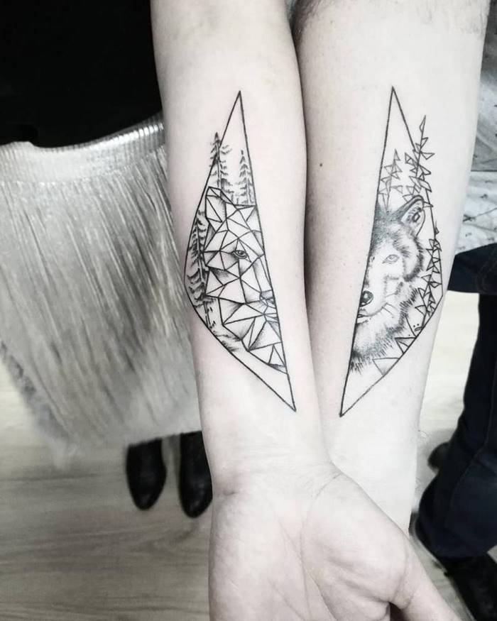 The fusion of nature and geometry tatttoo