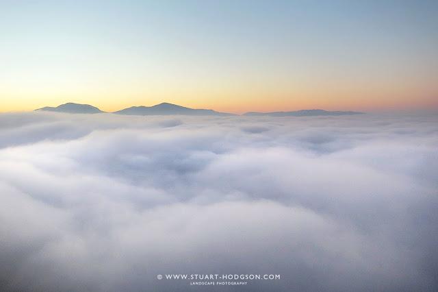 Cloud inversion walla crag keswick lake district views see
