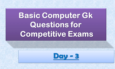 Computer Gk Questions day3 2020-21