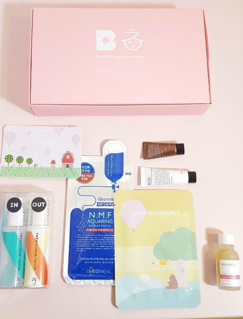 Contenido caja Birchbox y Miin Cosmetics