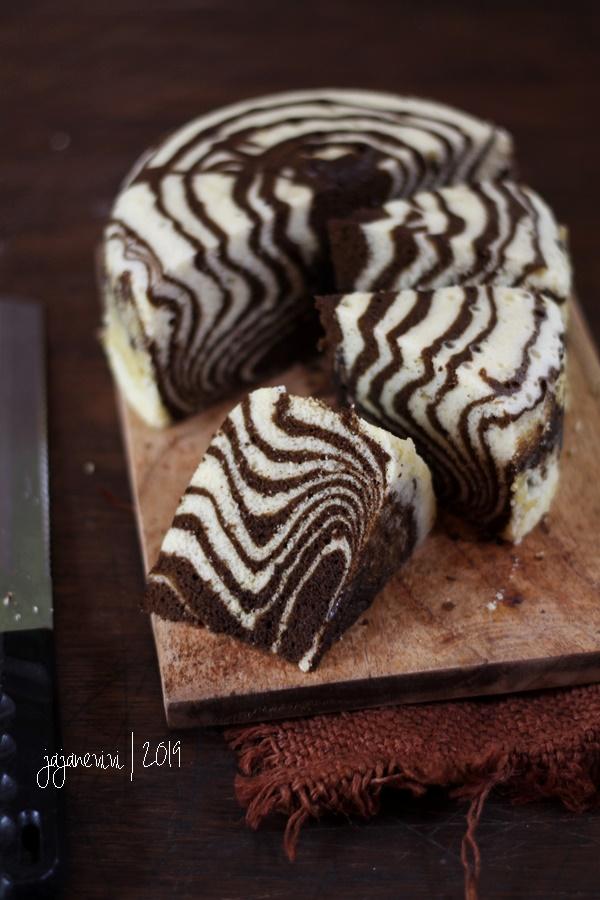Zebra Cake Kukus Jajane Vivi